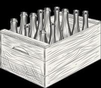 Cider Bottle in Case Sketch
